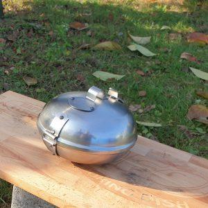 A HAPPY FLAME sütődiszkoszt már a hétvégén fel avathatom, parázsban készítek tarjét zöldségekkel, sütődiszkoszban.